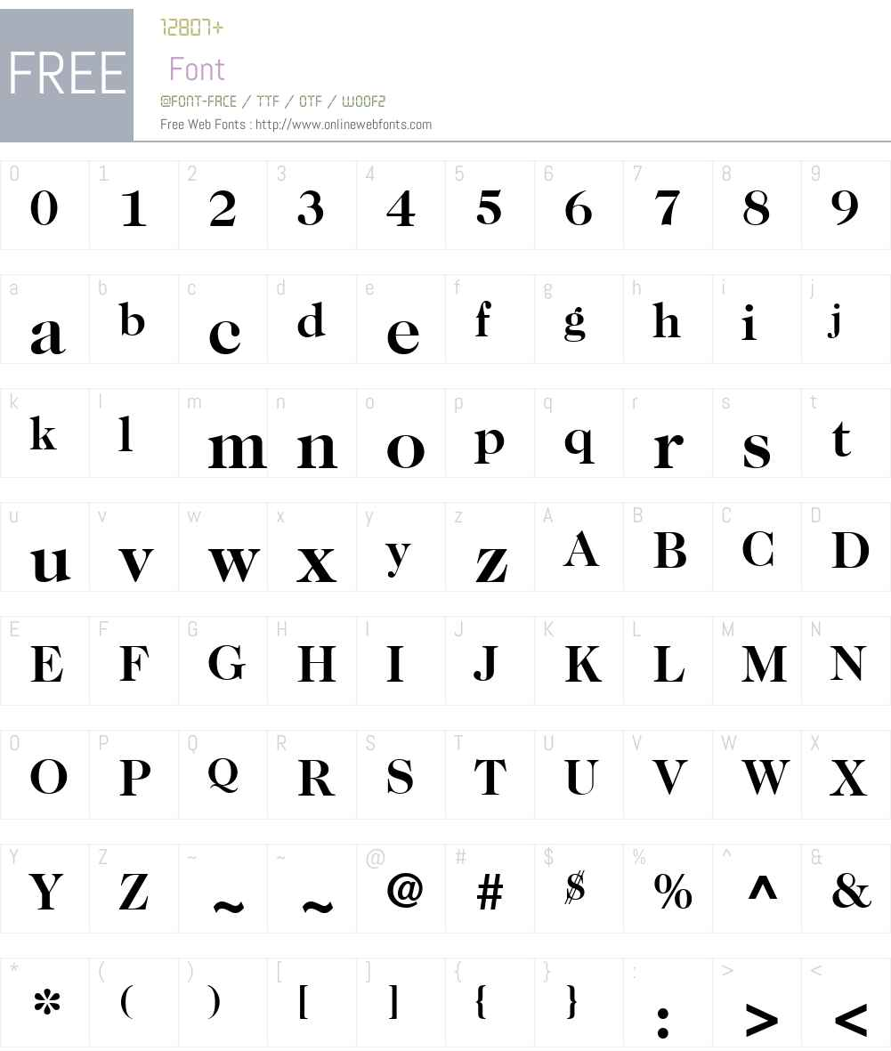 ITCCaslon224W01-Bold Font Screenshots