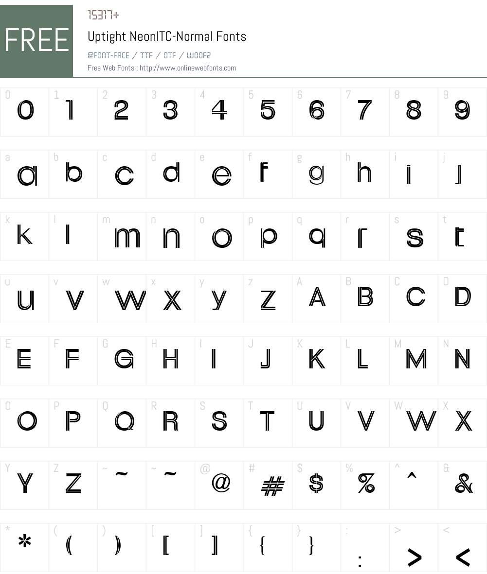 Uptight Neon Font Screenshots