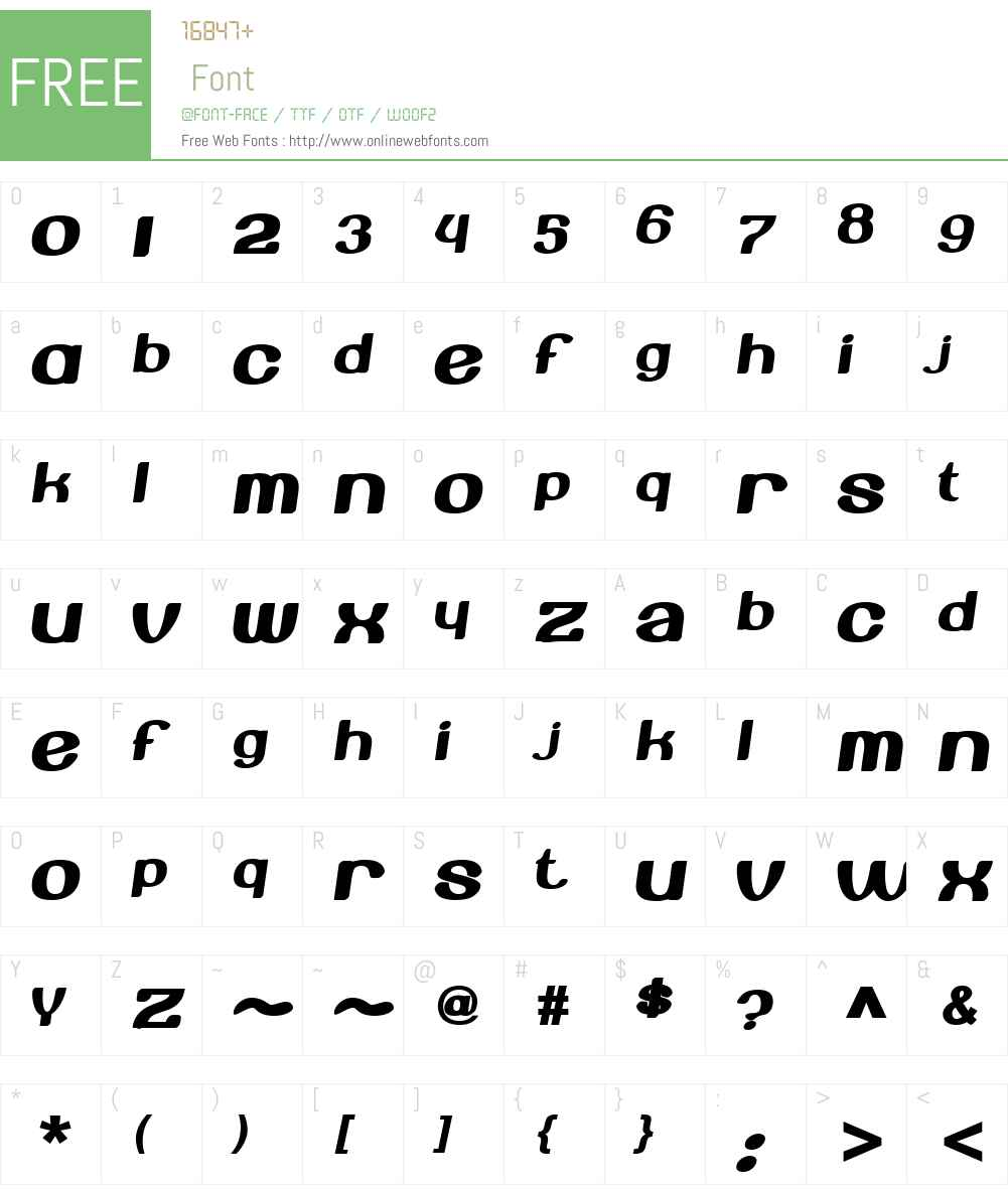Beroga Fettig Font Screenshots