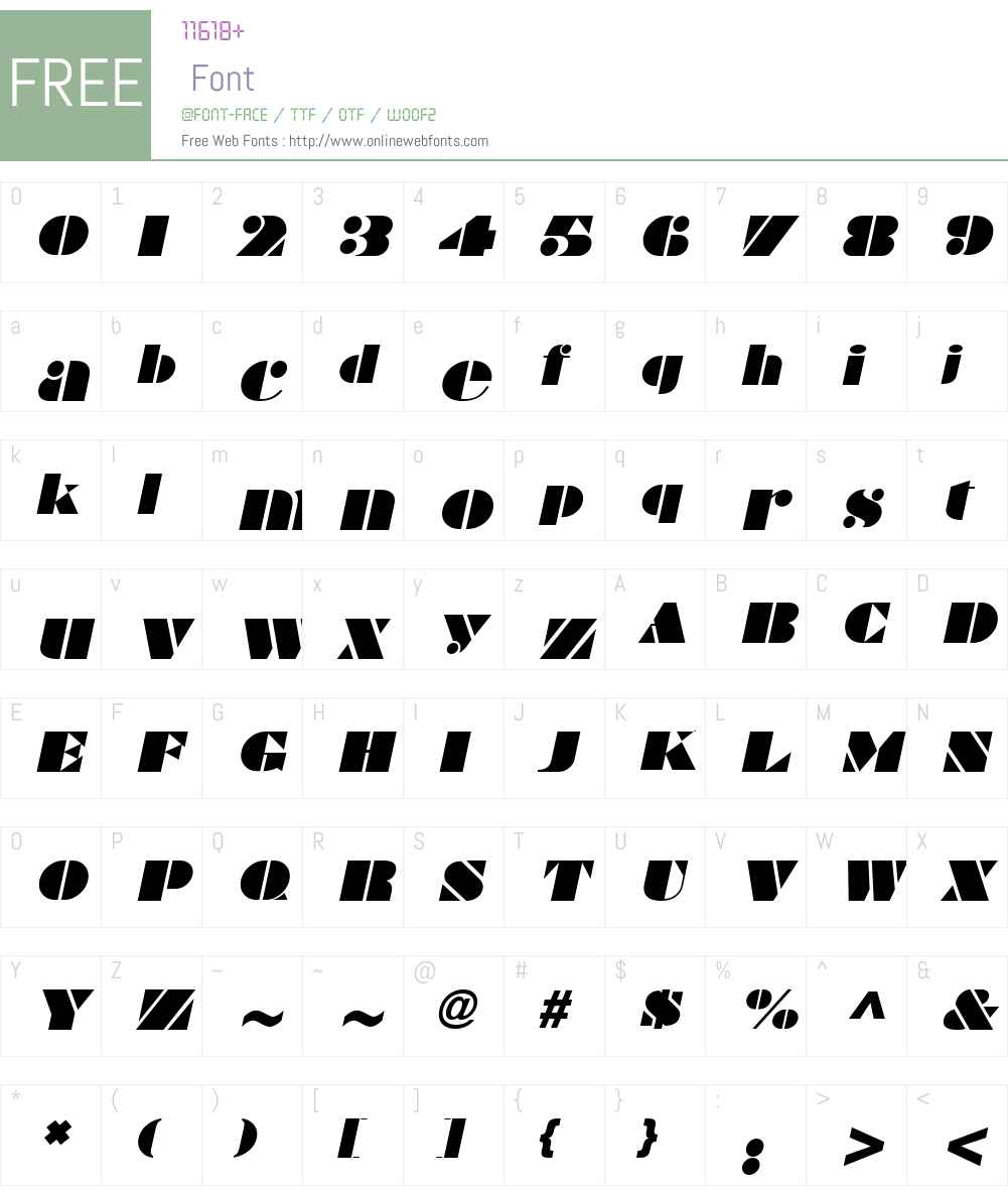 Bravado Font Screenshots