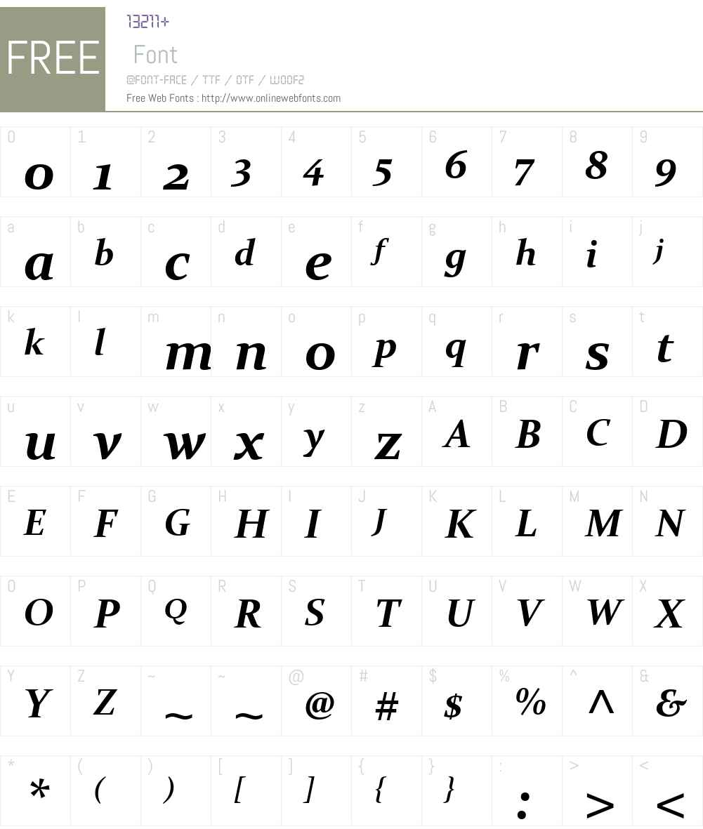 ConstantiaW01-BoldItalic Font Screenshots