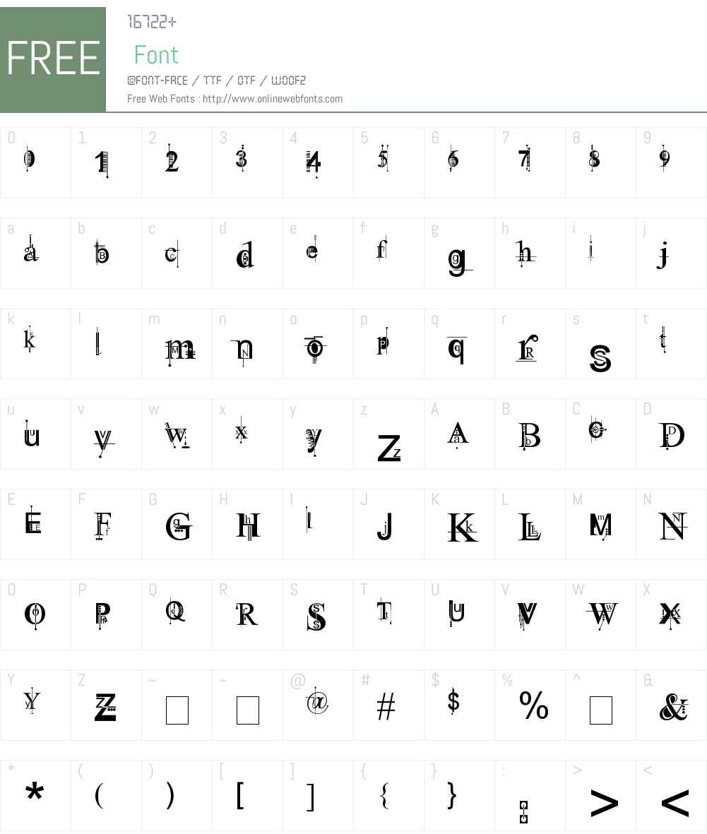 Kingthings Pique'n'meex Font Screenshots