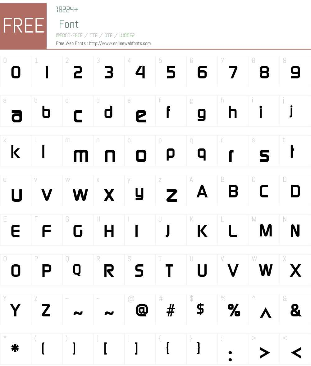 Newage Font Screenshots