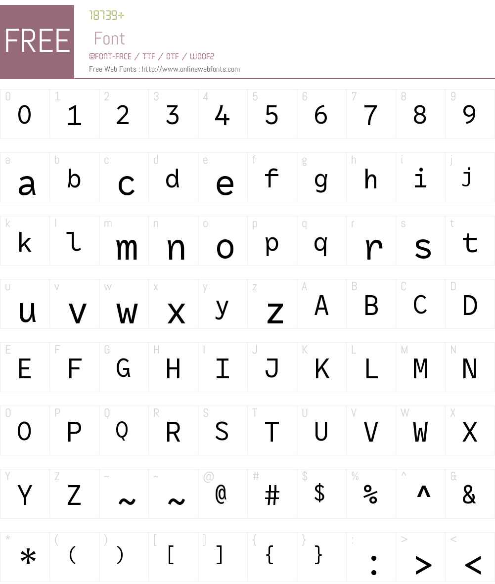 RF Rostin Font Screenshots
