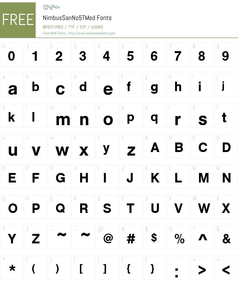 NimbusSanNo5TMed Font Screenshots