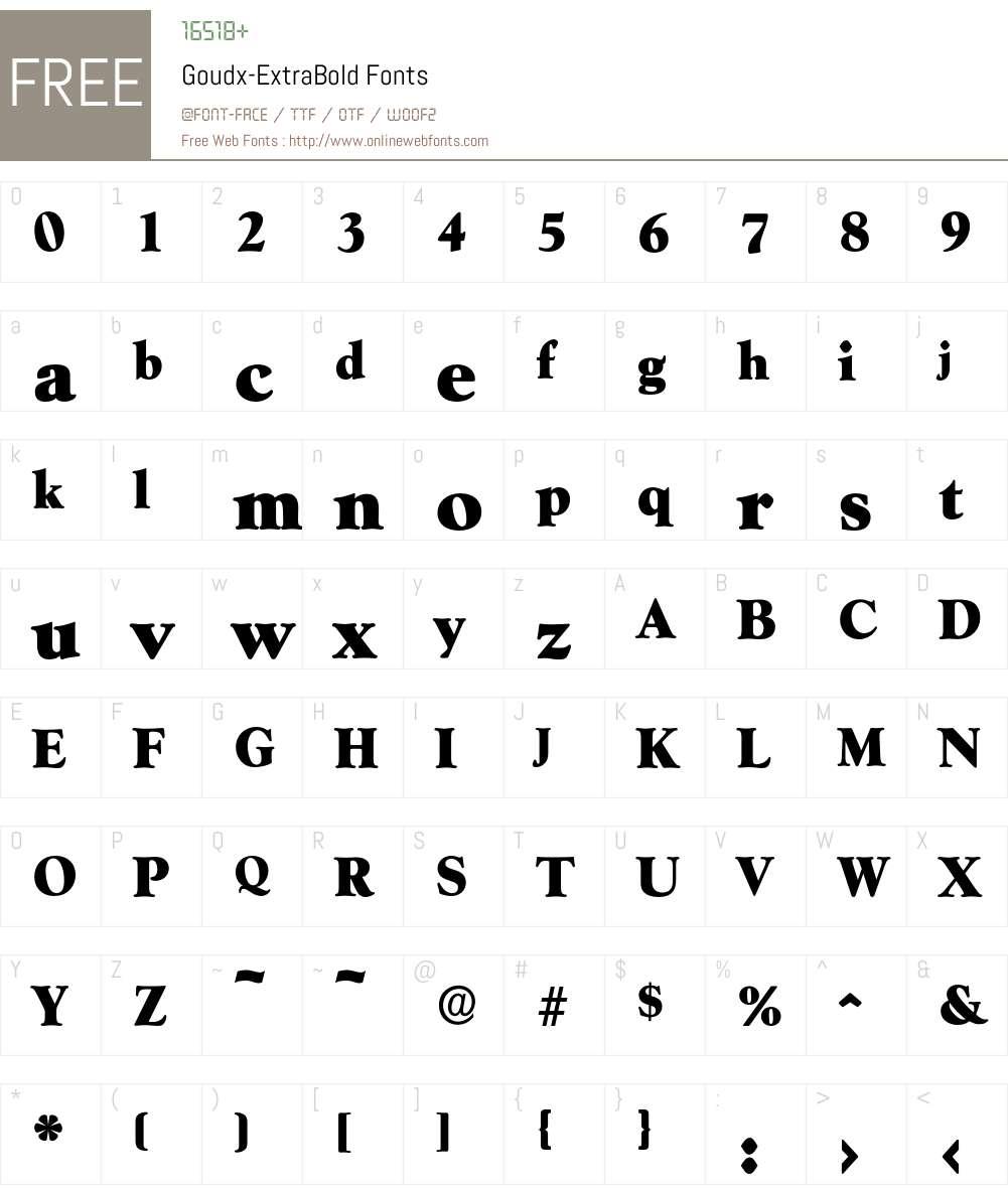 Goudx-ExtraBold Font Screenshots