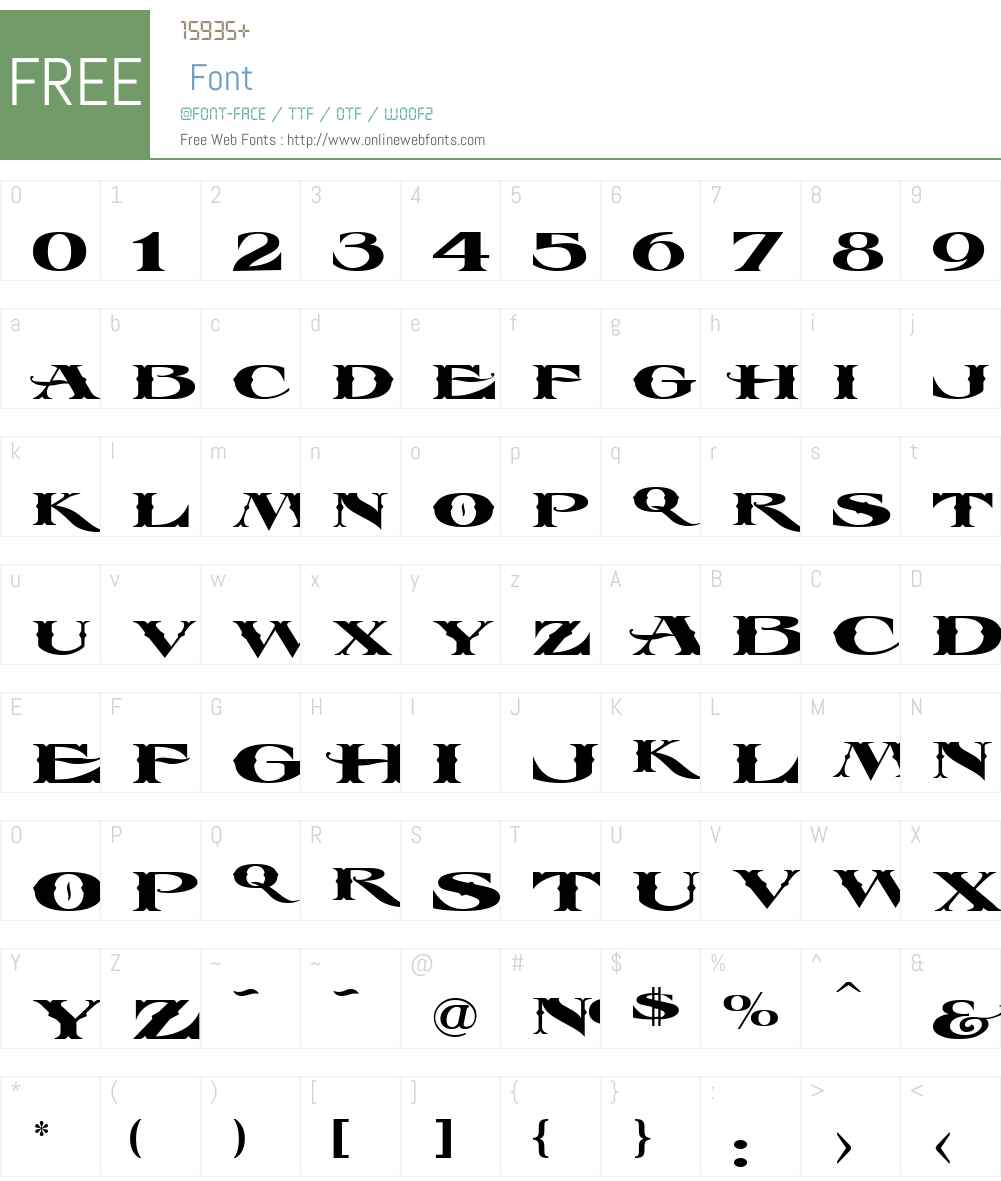 LHF Esoteric 3 FANCY Font Screenshots