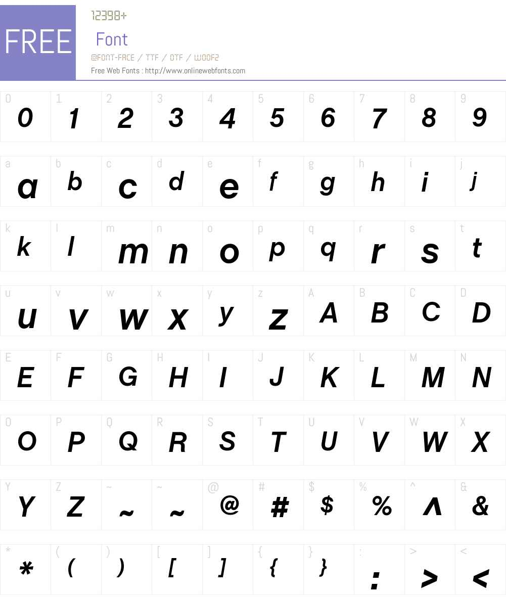 ChaletBook Font Screenshots