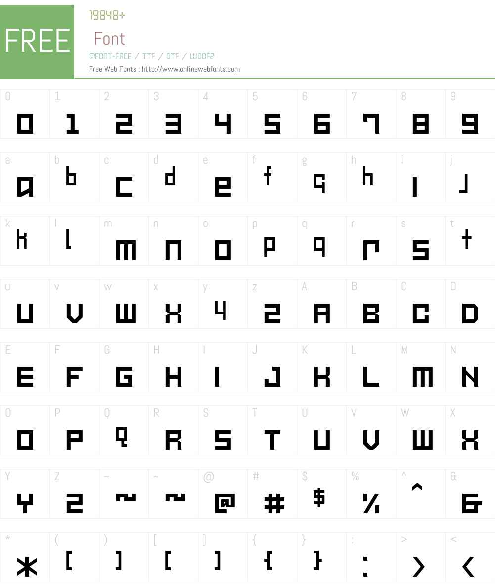 Mechanikschrift Font Screenshots
