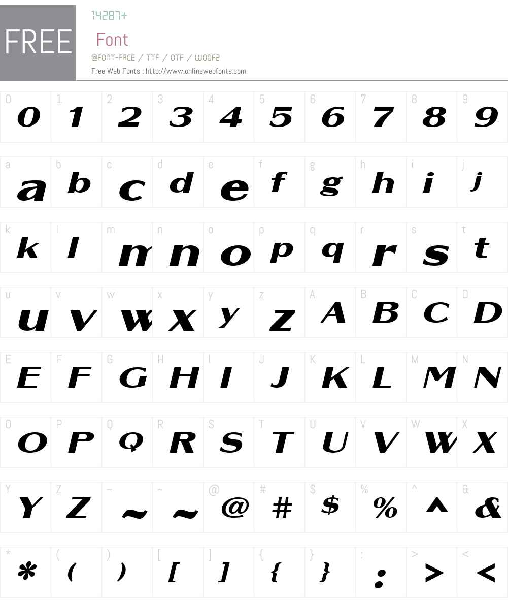 AltrinchamW01-WideOblique Font Screenshots