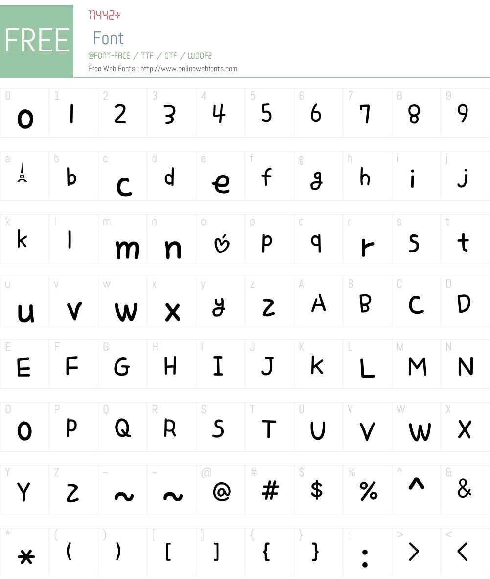Love Letter Font Screenshots