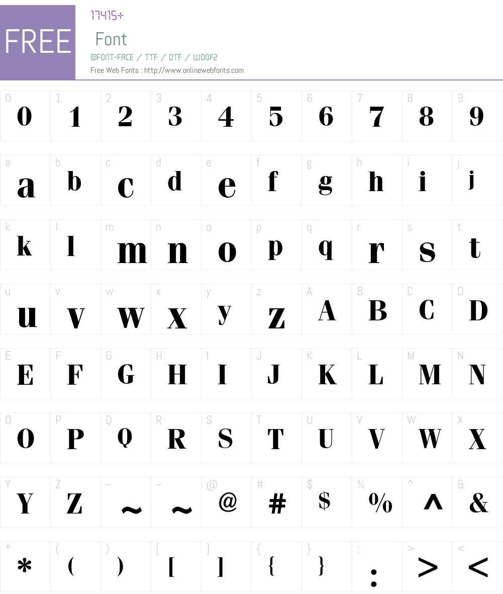 Fenice BQ Font Screenshots
