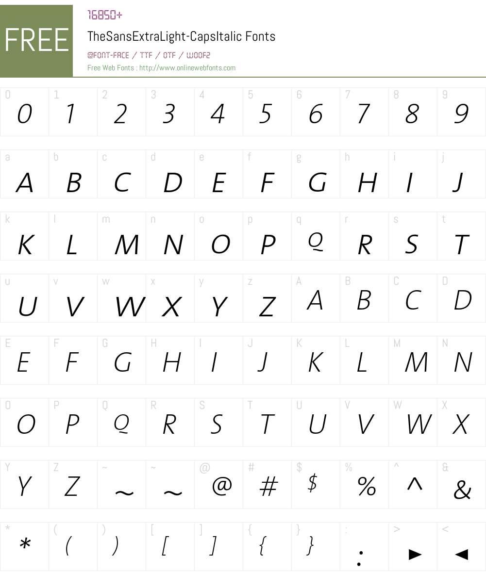 The Sans Extra Light- Font Screenshots