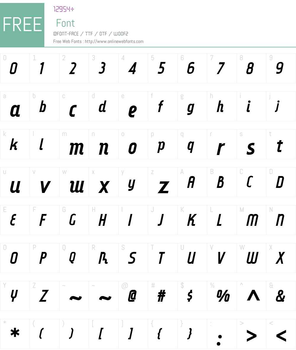 DinkyRinkNFW01-Italic Font Screenshots