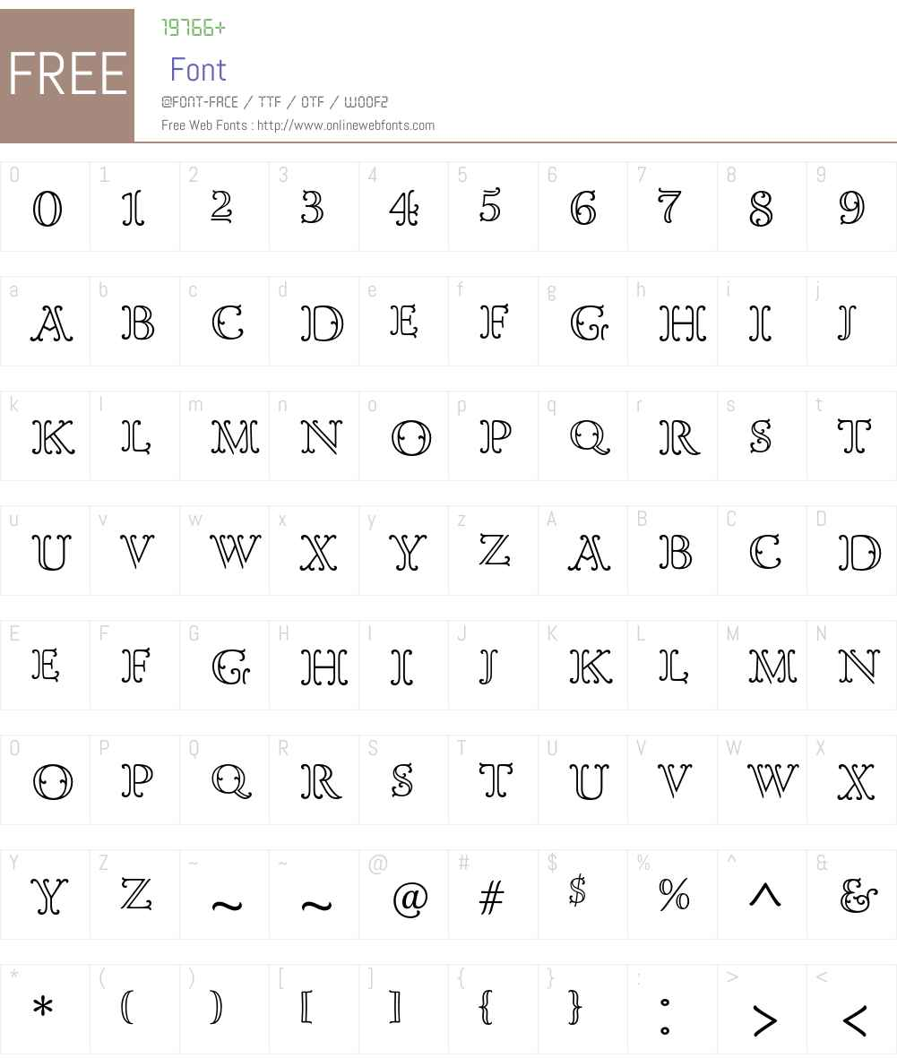 Goudy Ornate MT Std Font Screenshots