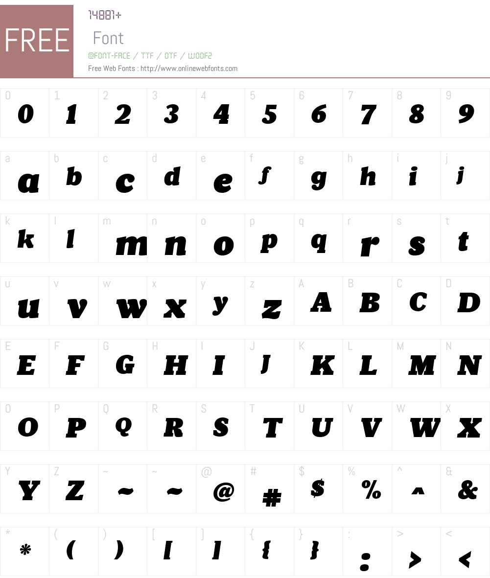 VelinoPosterW01-Italic Font Screenshots