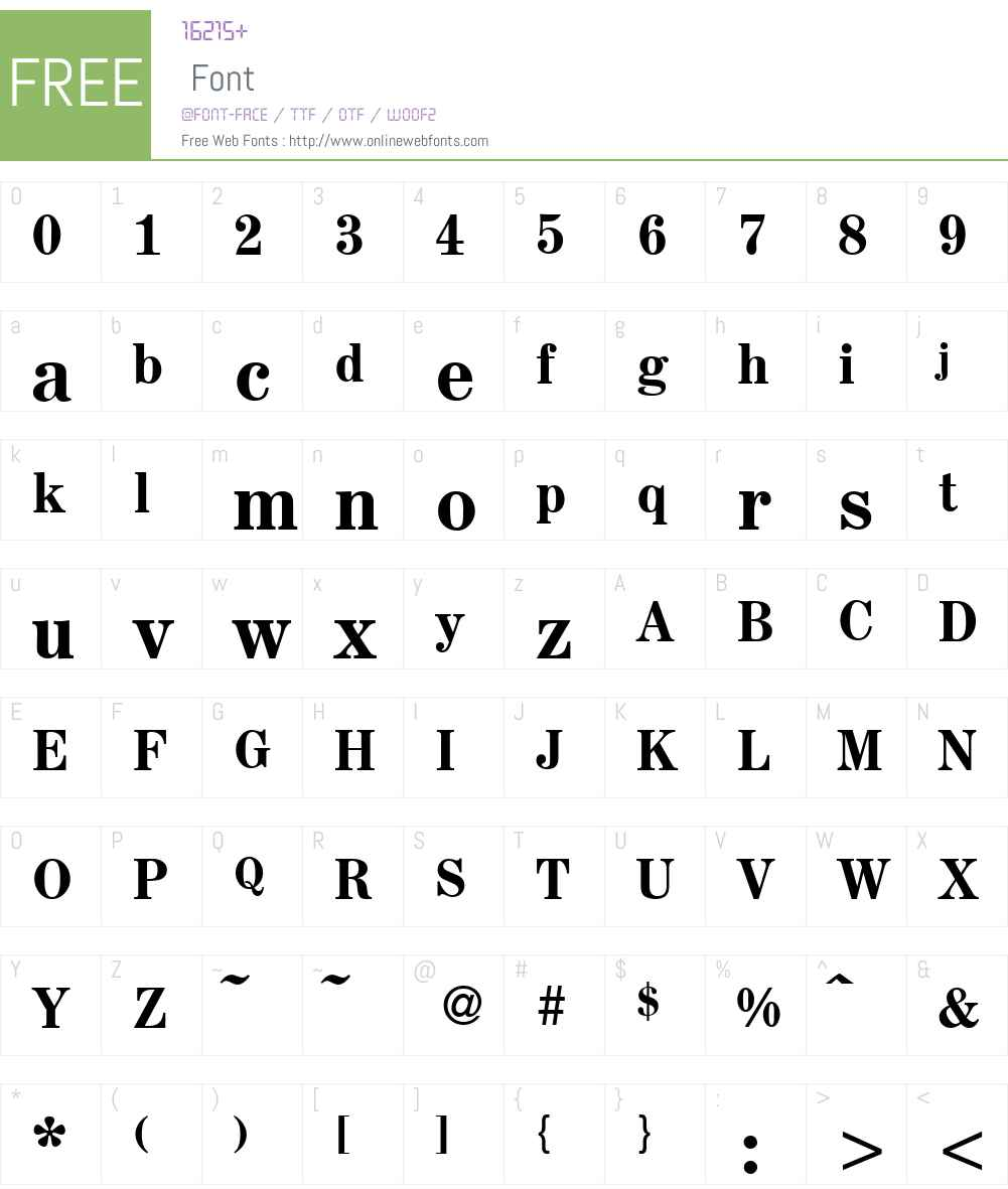 A850-Roman-Medium Font Screenshots