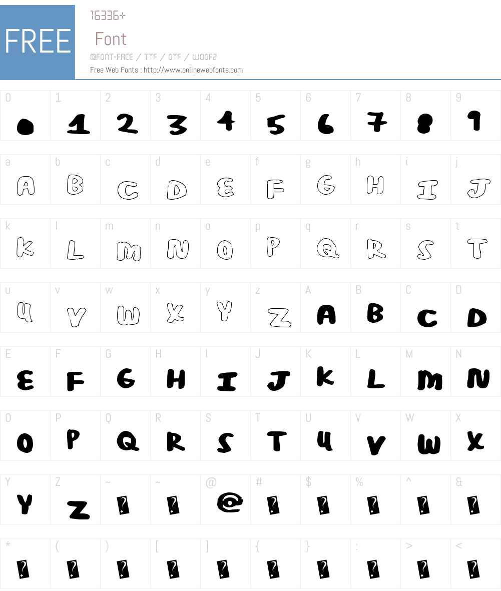 PosterBold Font Screenshots