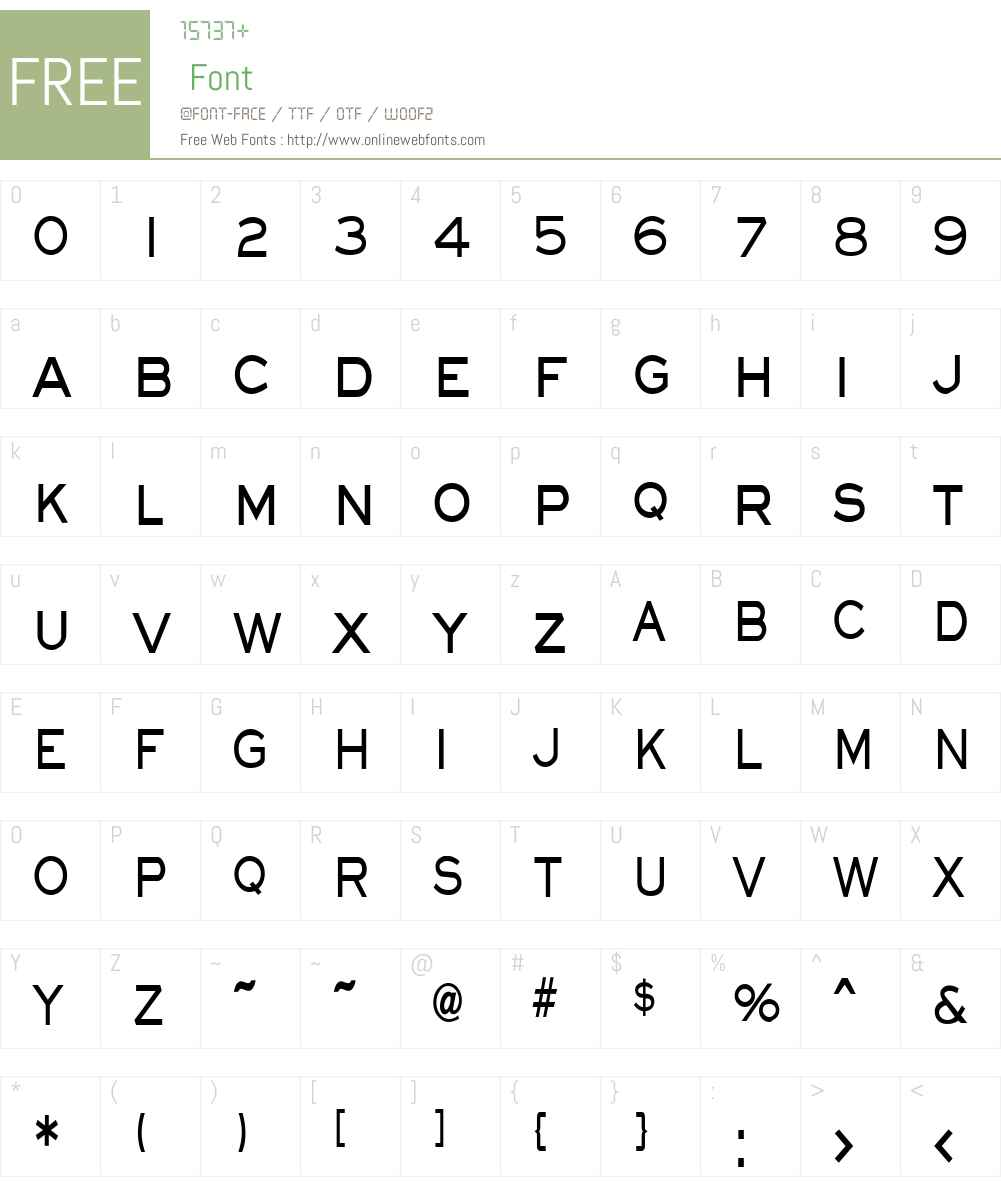 Eye glass Thin Font Screenshots
