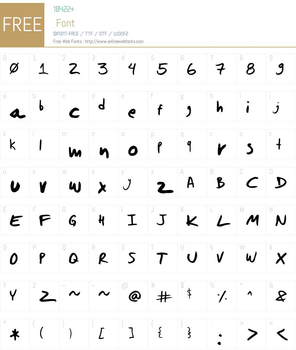 dwerneck Font Screenshots