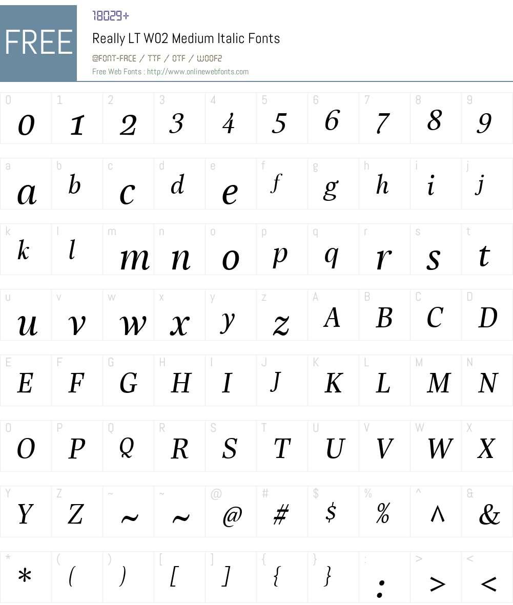 Linotype Really Font Screenshots