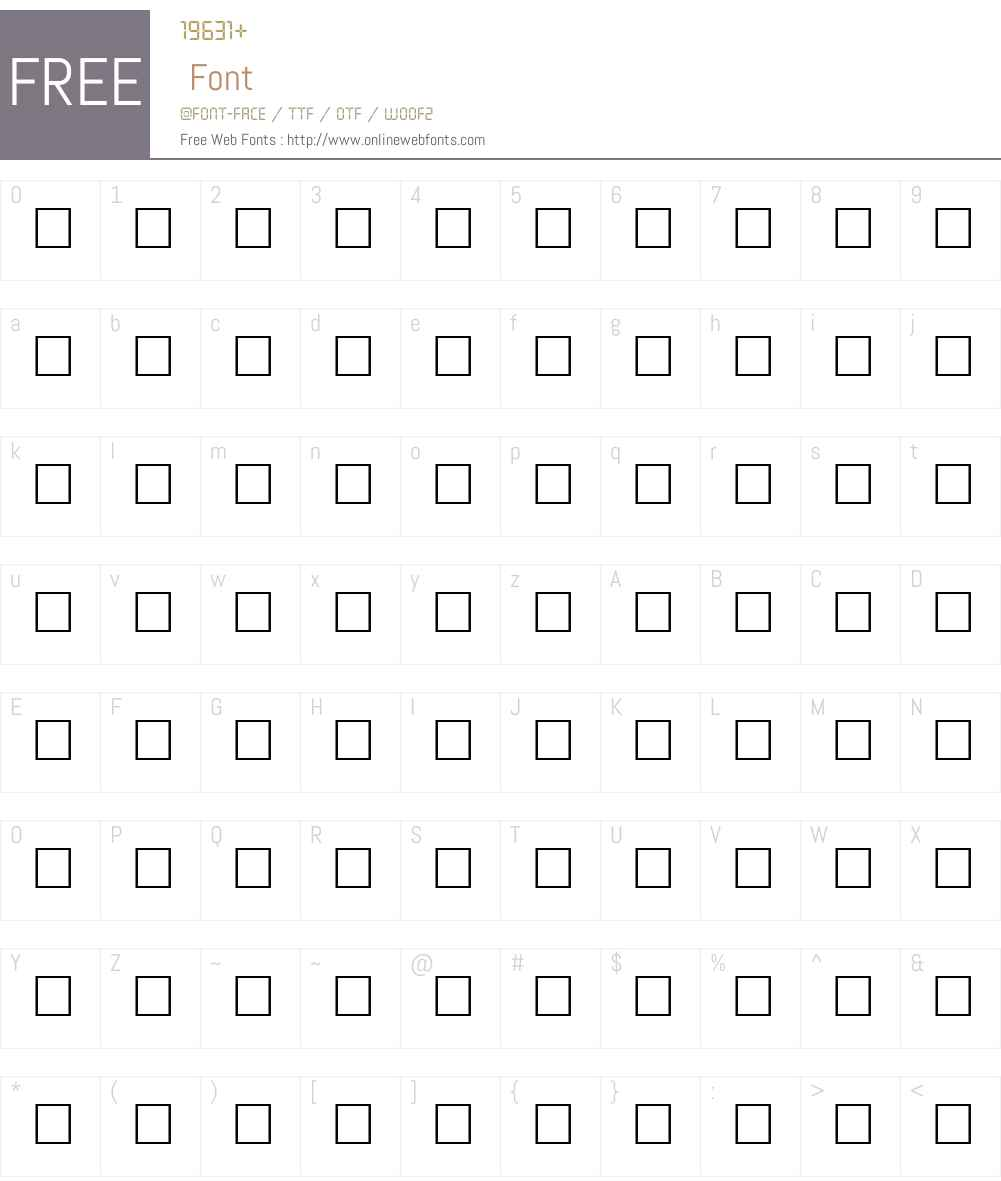 JOLT Font Screenshots