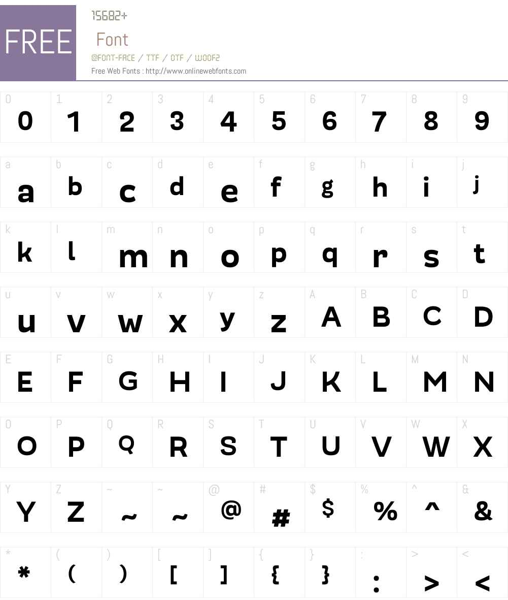 ModernicaW00-Heavy Font Screenshots