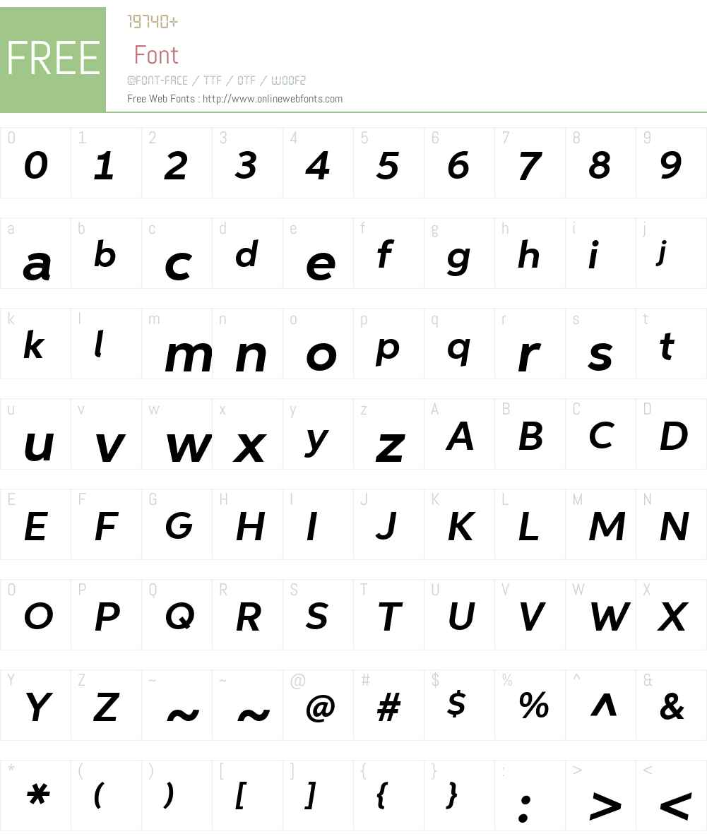 AspiraWideW01-BoldItalic Font Screenshots