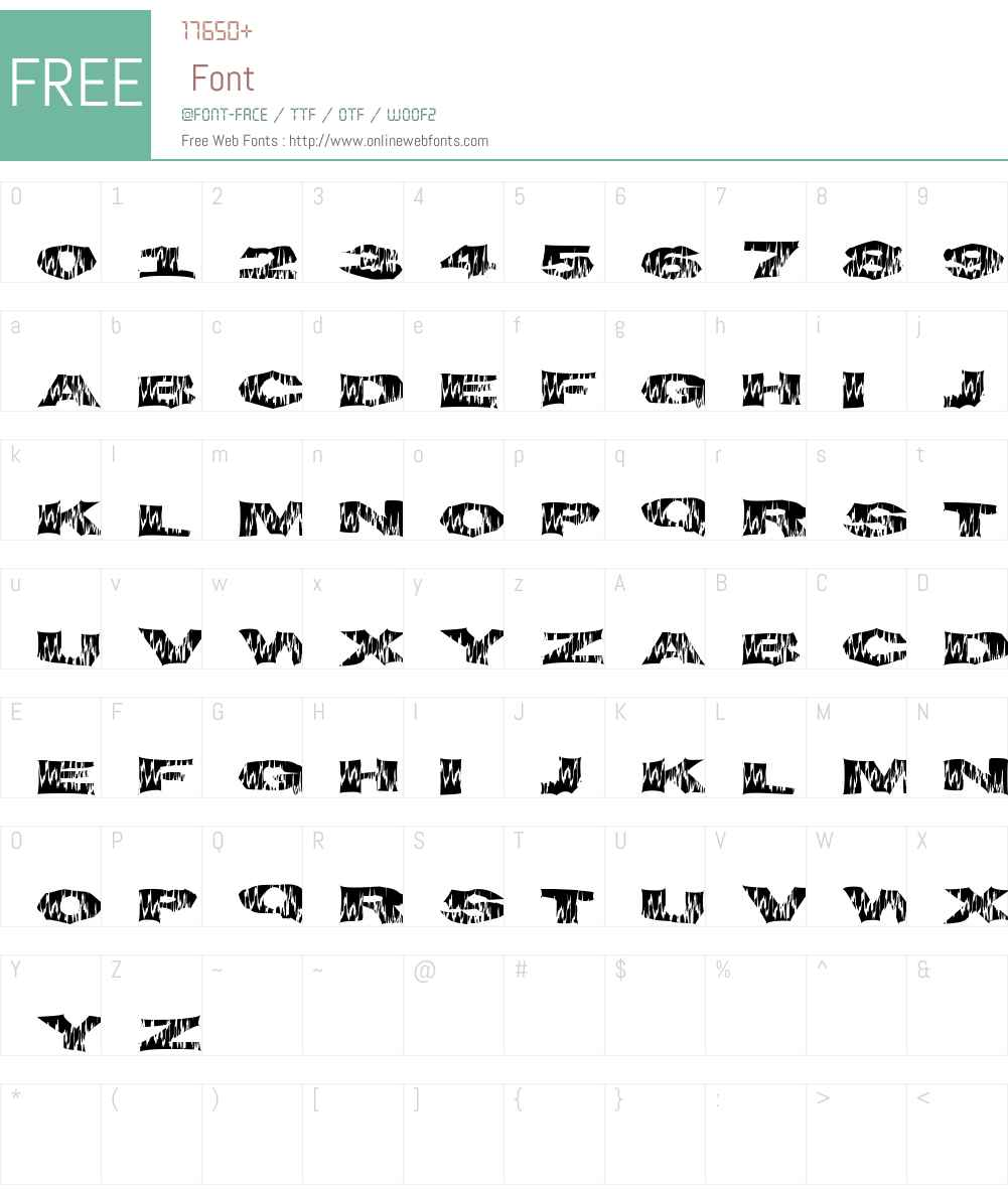 FlameTime Font Screenshots