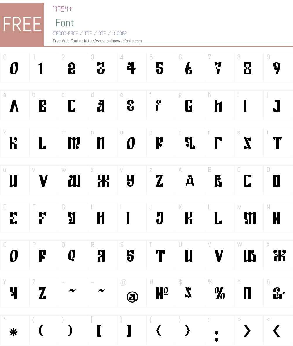 Kremlin Empire Font Screenshots