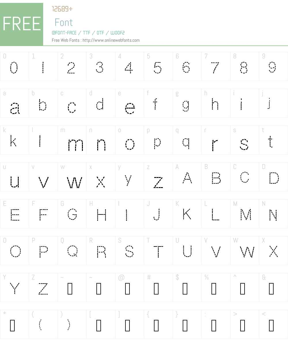 DashNess Font Screenshots