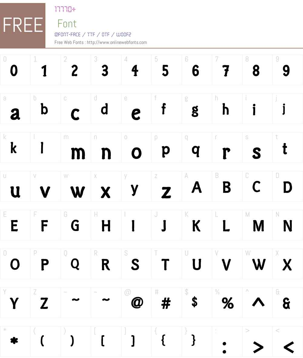 ClicheeCE Font Screenshots