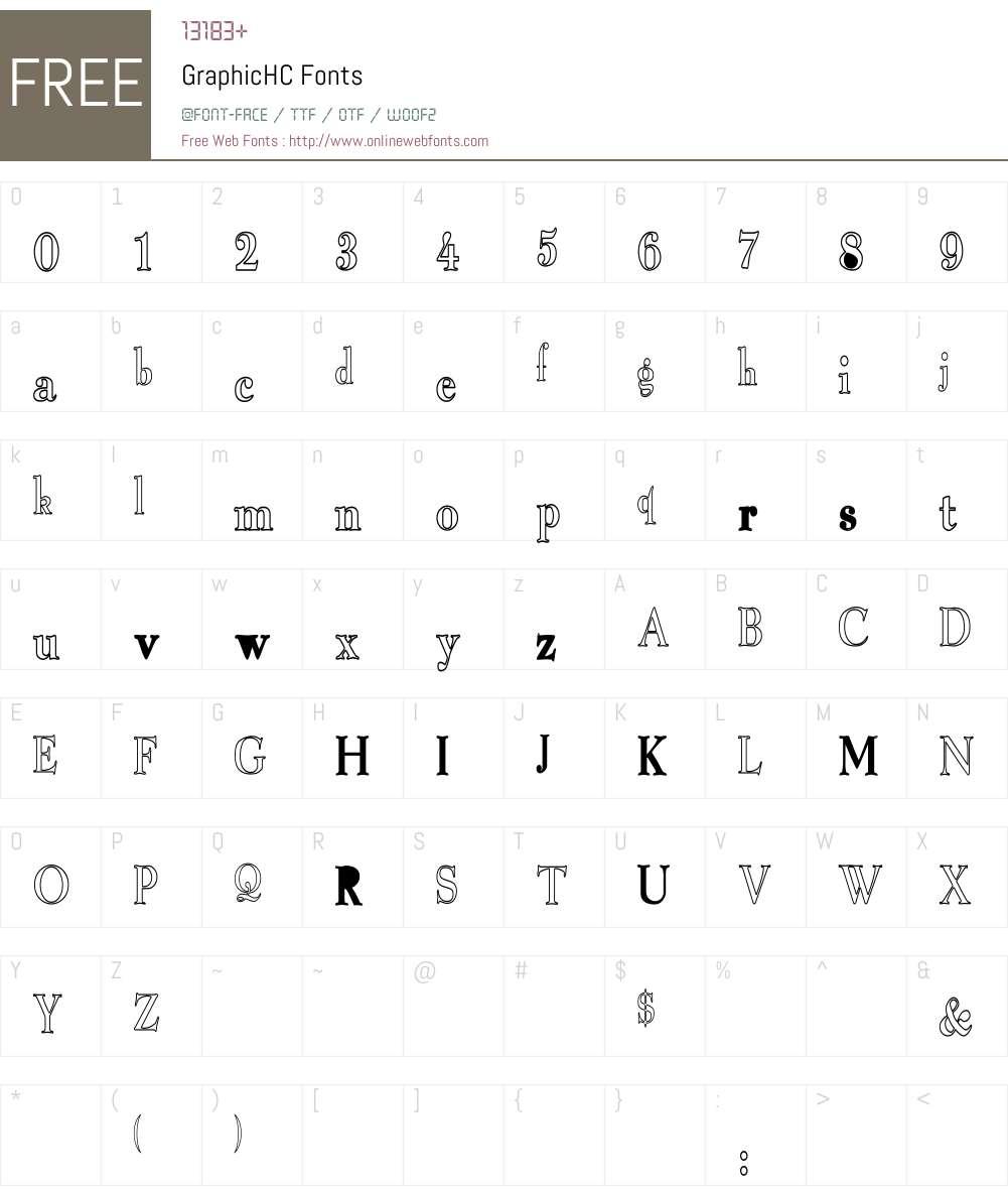 GraphicHC Font Screenshots