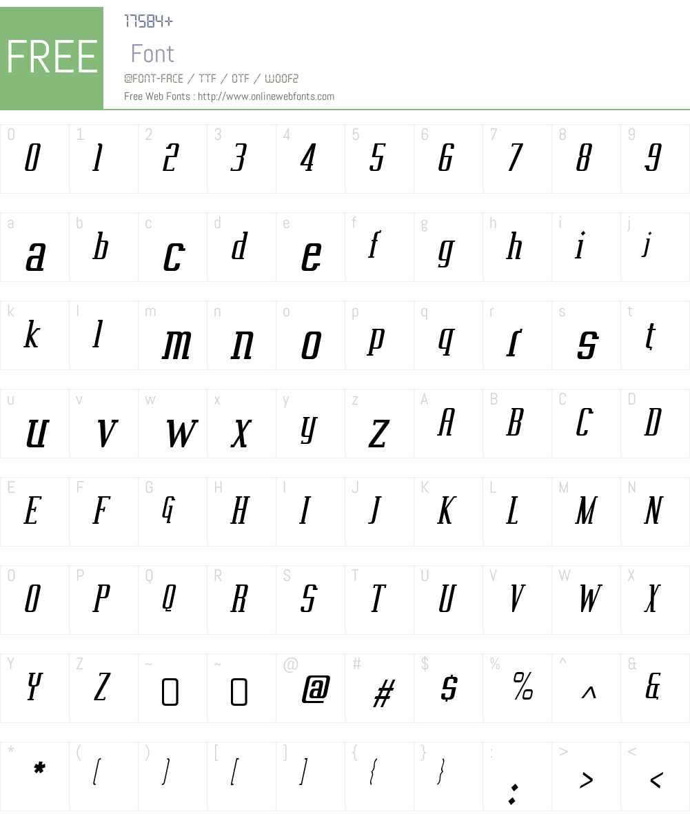 VahikaW00-Italic Font Screenshots