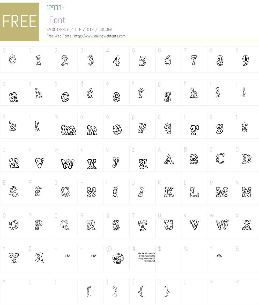 Coulures Font Screenshots