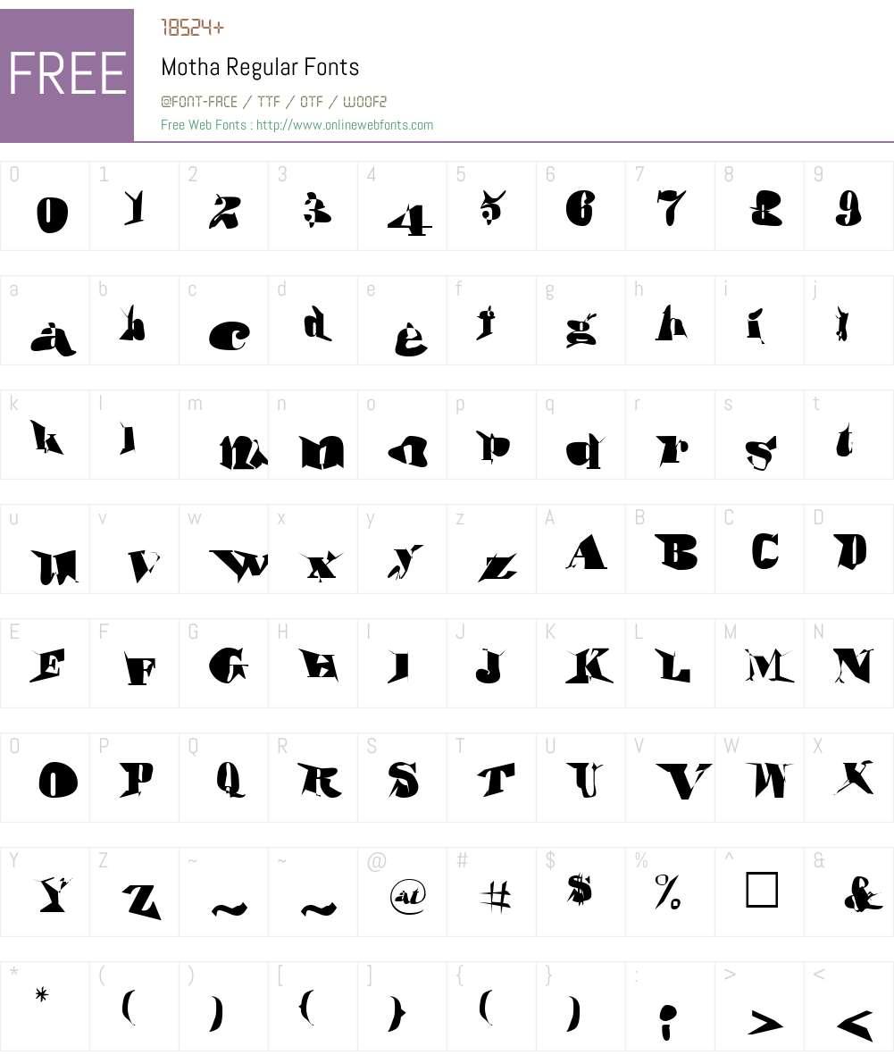 Motha Font Screenshots