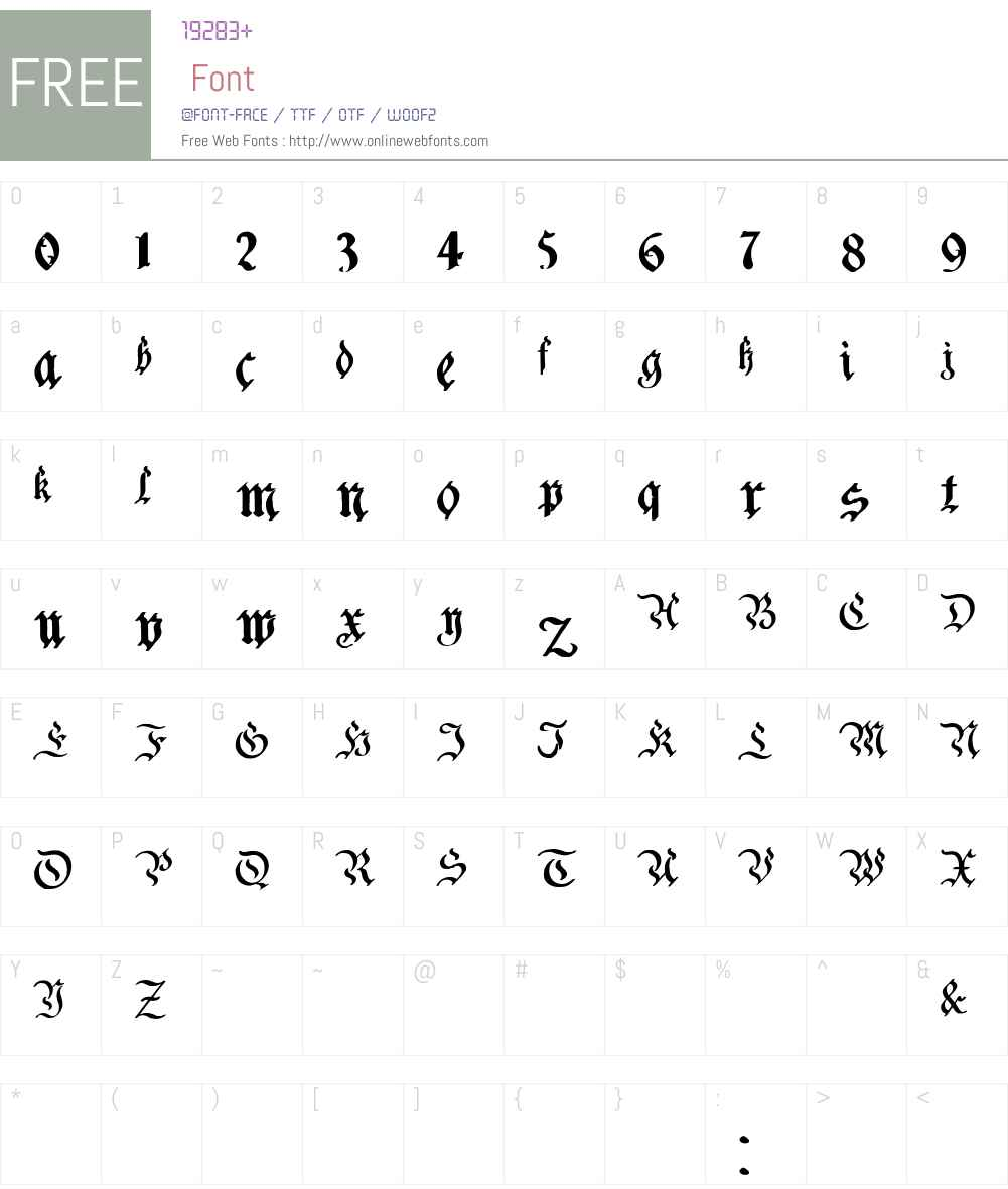 Charterwell Font Screenshots