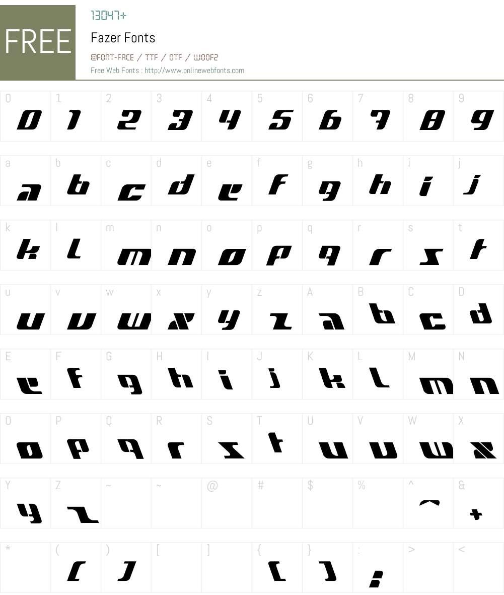Fazer Font Screenshots