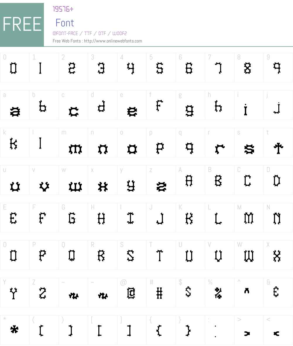 Nymonak BRK Font Screenshots
