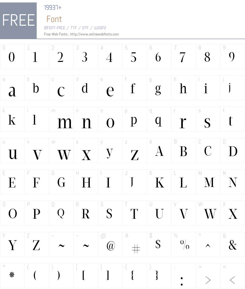 VelinoDisplayW01-CdBook Font Screenshots