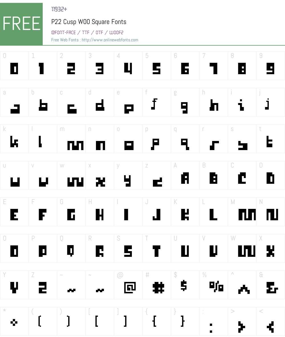 P22 Cusp Font Screenshots