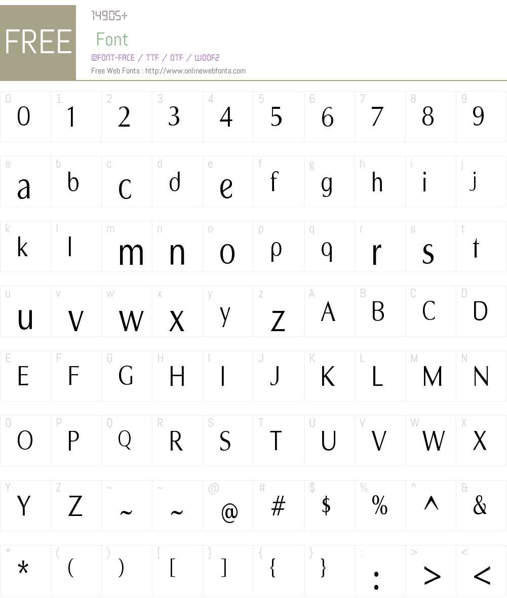 Sandena Book Cond Font Screenshots