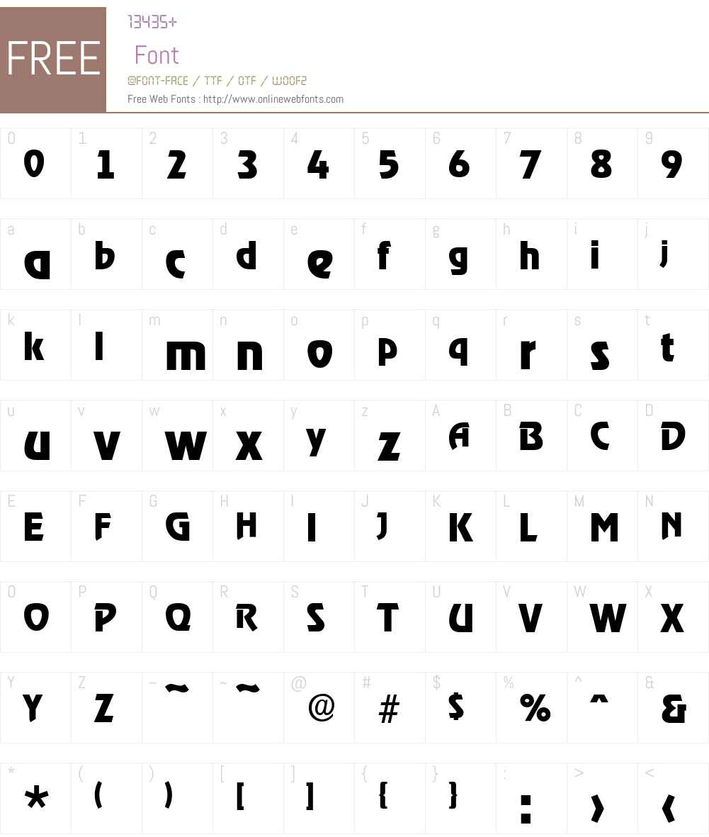 OnStageSerial-Xbold Font Screenshots