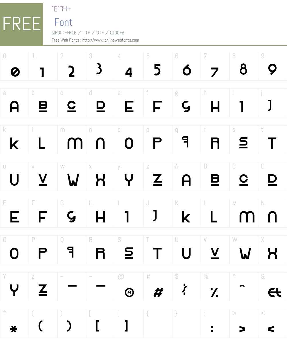 RolingaRenner Font Screenshots