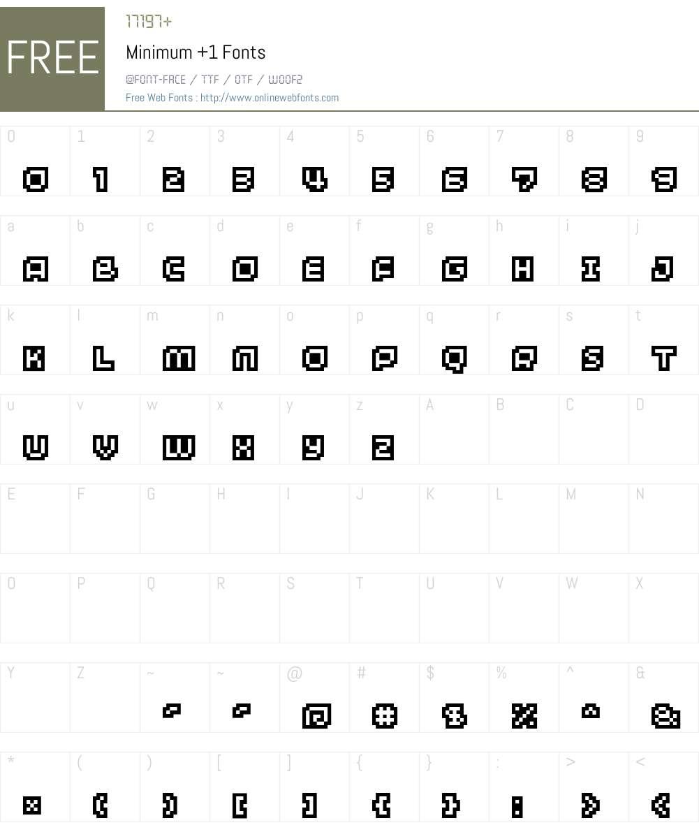 Minimum +1 Font Screenshots