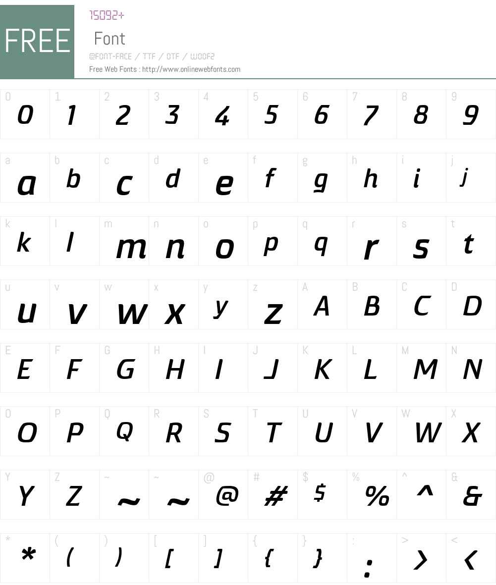 TorcaoW01-ExpBdIt Font Screenshots