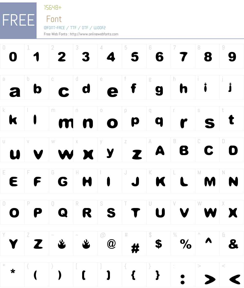 Candelita Font Screenshots
