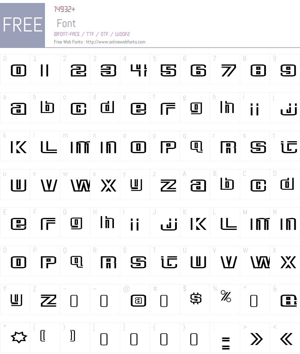 DeluxeDucksW90-Regular Font Screenshots