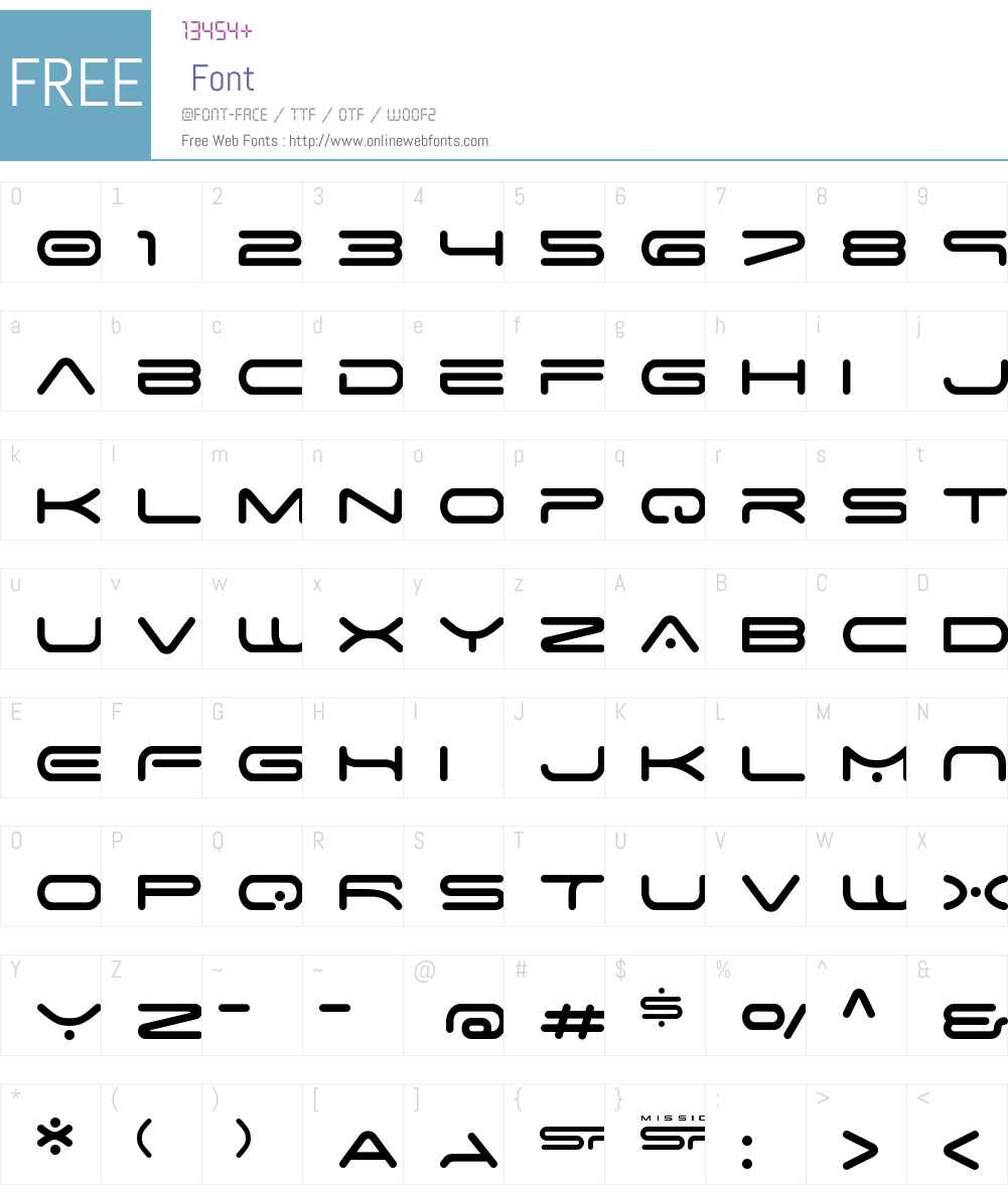 Space Age Font Screenshots