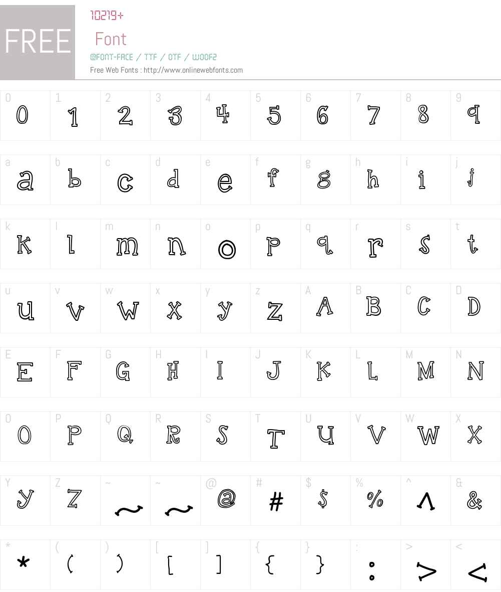 KBTalkingLoudly Font Screenshots